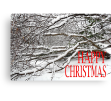 HAPPY CHRISTMAS 2 Canvas Print