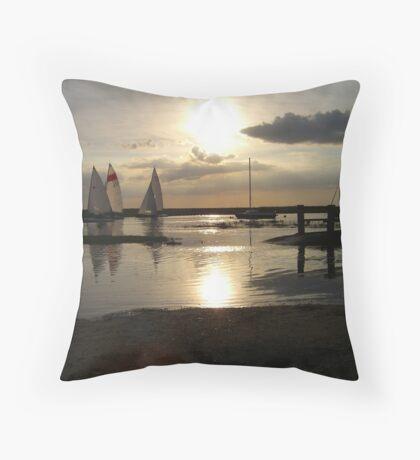 Blakeney Quay Throw Pillow
