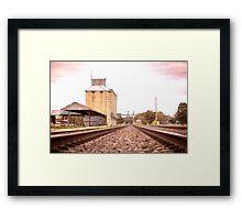 silo's on track Framed Print