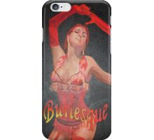 Burlesque Dancer Wearing Vintage Red Corset and Gloves iPhone Case/Skin