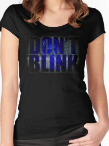 Don't Blink - Dr Who Weeping Angels T-shirt Women's Fitted Scoop T-Shirt