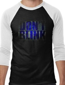 Don't Blink - Dr Who Weeping Angels T-shirt Men's Baseball ¾ T-Shirt