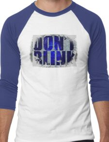 Don't Blink - Dr Who Weeping Angels T-shirt Men's Baseball ¾ T-Shirt