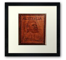 PYROGRAPHY: Australian Stamp 1950 Framed Print