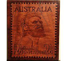 PYROGRAPHY: Australian Stamp 1950 Photographic Print