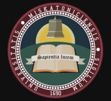 Miskatonic University seal T-shirt by Pieter Bruwer
