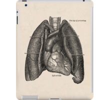anatomical drawing of lungs and heart iPad Case/Skin