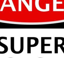 DANGER QUEENS PARK RANGERS, SUPER HOOPS FAN, FOOTBALL FUNNY FAKE SAFETY SIGN Sticker