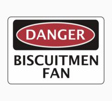 DANGER READING, BISCUITMEN FAN, FOOTBALL FUNNY FAKE SAFETY SIGN Kids Clothes
