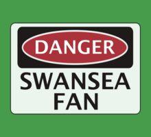 DANGER SWANSEA CITY, SWANSEA FAN, FOOTBALL FUNNY FAKE SAFETY SIGN One Piece - Short Sleeve