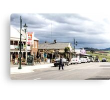 Sheffield Shopfronts, Tasmania, Australia Canvas Print