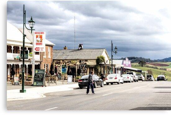 Sheffield Shopfronts, Tasmania, Australia by Elaine Teague