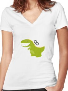 Dino Toys Women's Fitted V-Neck T-Shirt