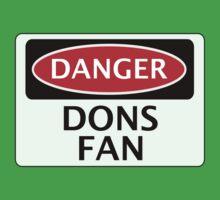 DANGER WIMBLEDON, MILTON KEYNES, DONS FAN, FOOTBALL FUNNY FAKE SAFETY SIGN One Piece - Short Sleeve