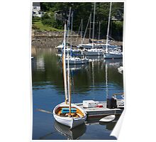 Camden Harbor,  born in Maine Poster