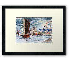 Arrival At The Hanse Sail Rostock Framed Print