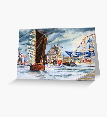Arrival At The Hanse Sail Rostock Greeting Card