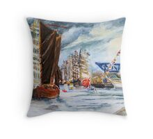 Arrival At The Hanse Sail Rostock Throw Pillow