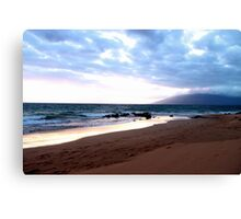 Hawaiian Beach at Sunset Canvas Print