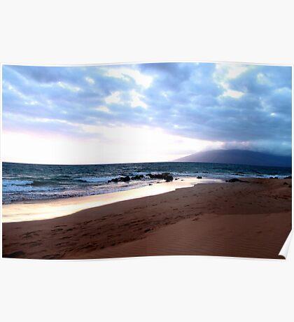 Hawaiian Beach at Sunset Poster