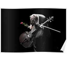 A Cellist's Curtain Bow Poster