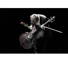 A Cellist's Curtain Bow Photographic Print