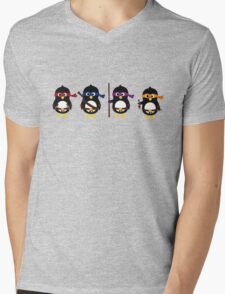 Penguins ninjas Mens V-Neck T-Shirt
