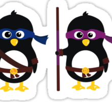 Penguins ninjas Sticker