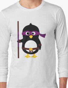 Penguin Ninja Donatello Long Sleeve T-Shirt