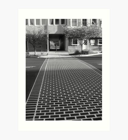 Crosswalk in Geneva, New York Art Print