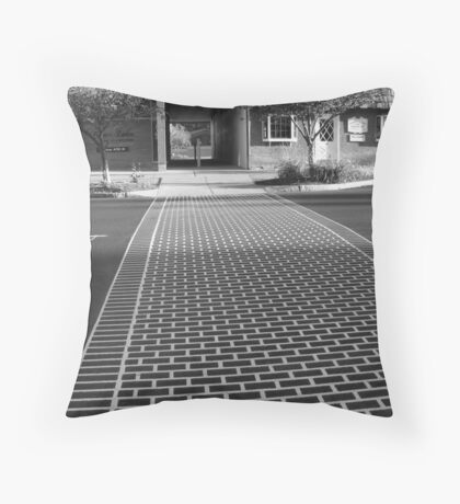 Crosswalk in Geneva, New York Throw Pillow