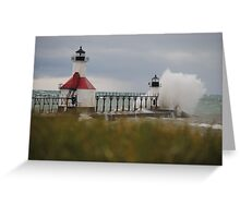 St Joseph North Pier Lighthouse - 21 Greeting Card