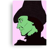 Profile of a Witch Canvas Print