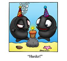 Funny Whale Birthday Cartoon Photographic Print
