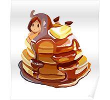 Pancake girl Poster