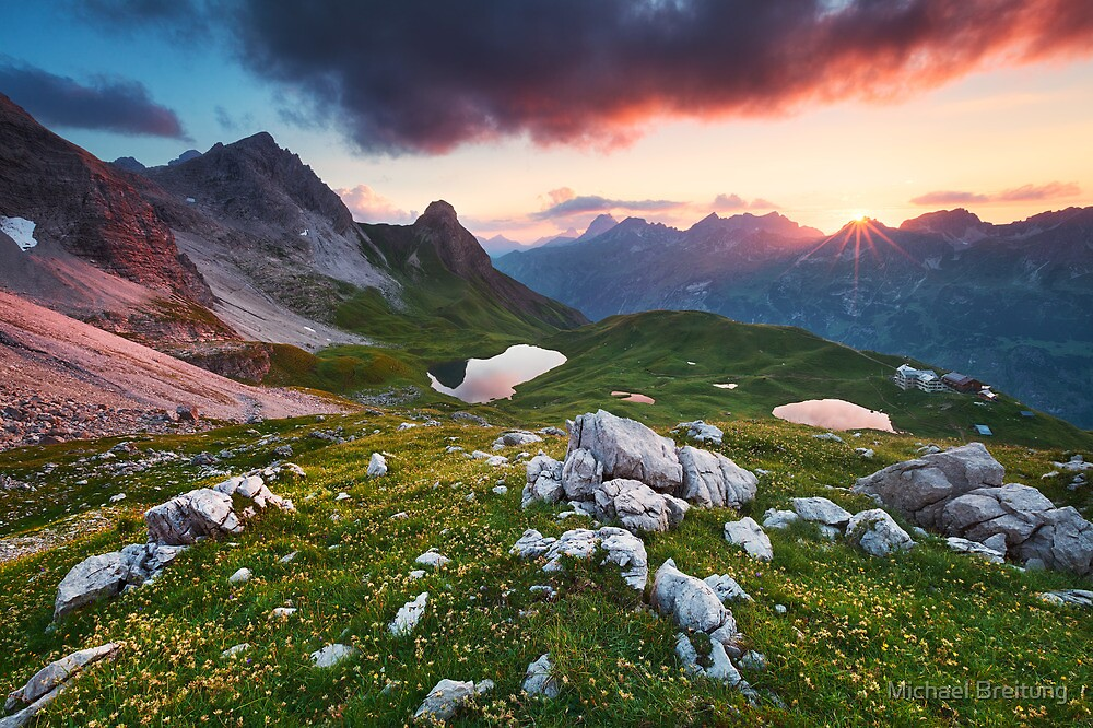 Alpine Sunset by Michael Breitung