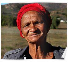 Namaqualand local Khoi-San woman Poster