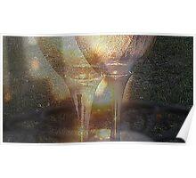 Sunrise Wine Glasses Poster
