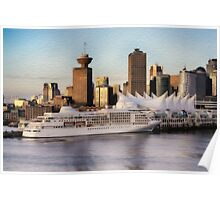 The Harbor in Vancouver Canada Poster