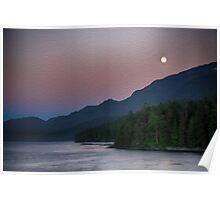 Full Moon in Alaska Poster