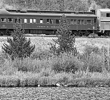 Cyrus K  Holliday Private Rail Car BW by Bo Insogna