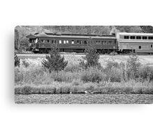 Cyrus K  Holliday Private Rail Car BW Canvas Print