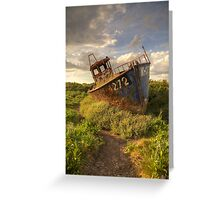 Cley Wreck Greeting Card
