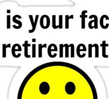 Retired Face Sticker