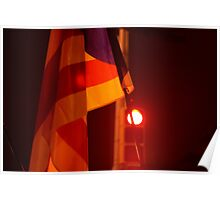 The Catalan Flag at night Poster