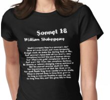 William Shakespeare Sonnet 18 Grunge T Shirt Womens Fitted T-Shirt