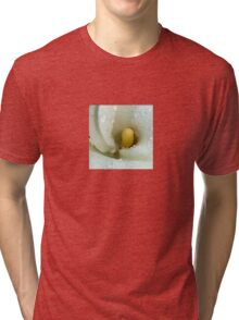 Beautiful Calla Lily Flower Macro with Morning Dew Tri-blend T-Shirt