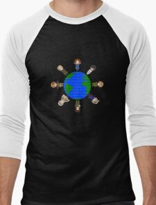 Hetalia Axis Powers  t-shirts - Most Popular shirt ! Hoodies now available! (aph draw a circle T shirts, axis powers) shirt / hoodie / hoody and posters avail. too! Men's Baseball ¾ T-Shirt
