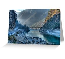 Devpryag At Misty Sunrise Greeting Card