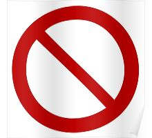 prohibited prohibition interdit Poster